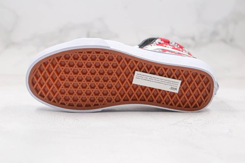 万斯Vans 2020 SK8-Hi纯原版本高帮中国红功夫熊猫黑红色硫化板鞋原楦头纸板打造