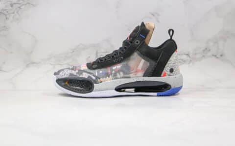 乔丹Air Jordan XXXIV Low Guo PF纯原版本未来概念轻量款篮球鞋AJ34黑灰色内置Zoom气垫 货号:CX7746-008