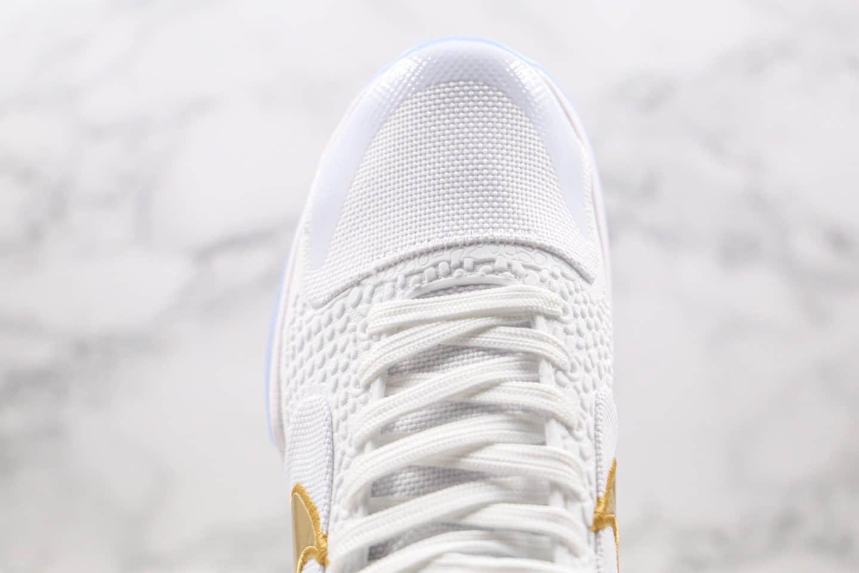 耐克Nike Kobe 5 Protro What If x UNDEFEATED联名款纯原版本科比5代白金色篮球鞋原盒原标 货号:DB4796-100