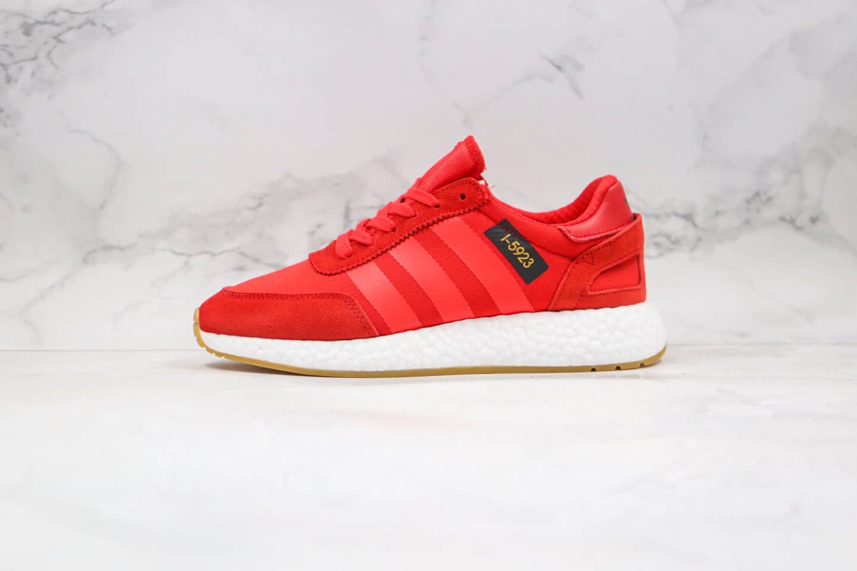 阿迪达斯Adidas Originals L-5923纯原版本三叶草爆米花跑鞋L-5923红色原档案数据开发 货号:B42225