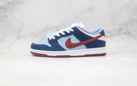 耐克Nike Dunk SB LOW FTC Finally纯原版本低帮SB DUNK蓝红色最后的小蜜蜂纪念版内置后跟Zoom气垫加厚鞋舌 货号:313170-463