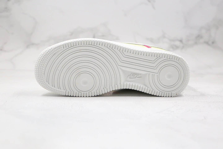耐克Nike Air Force 1 Low Life Lime纯原版本低帮空军一号帆布板鞋黄色内置全掌Sole气垫 货号:CK6572-700