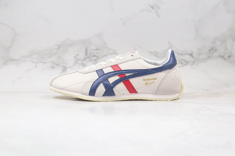 亚瑟士Asics onitsuka tiger纯原版本鬼冢虎阿甘鞋白藏蓝色慢跑鞋原盒原标 货号:TH201L-9950