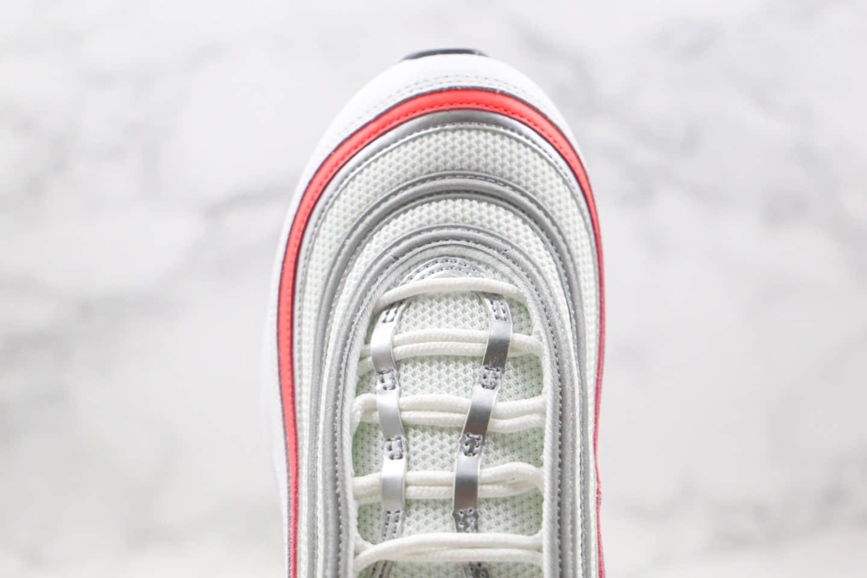 耐克Nike Wmns Air Max 97纯原版本子弹气垫鞋Max97新白红色内置真小潘气垫 货号:CZ6087-101