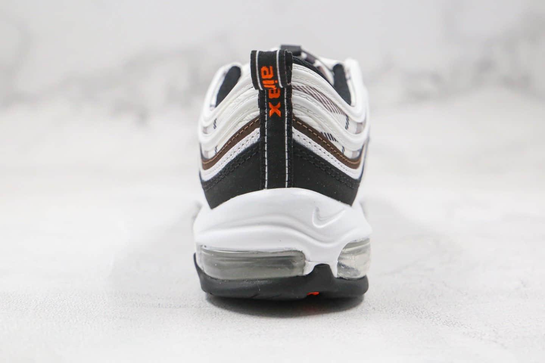 耐克Nike Air Max 97纯原版本子弹气垫鞋Max97黑迷彩格子原楦头纸板打造 货号:DB2017-100