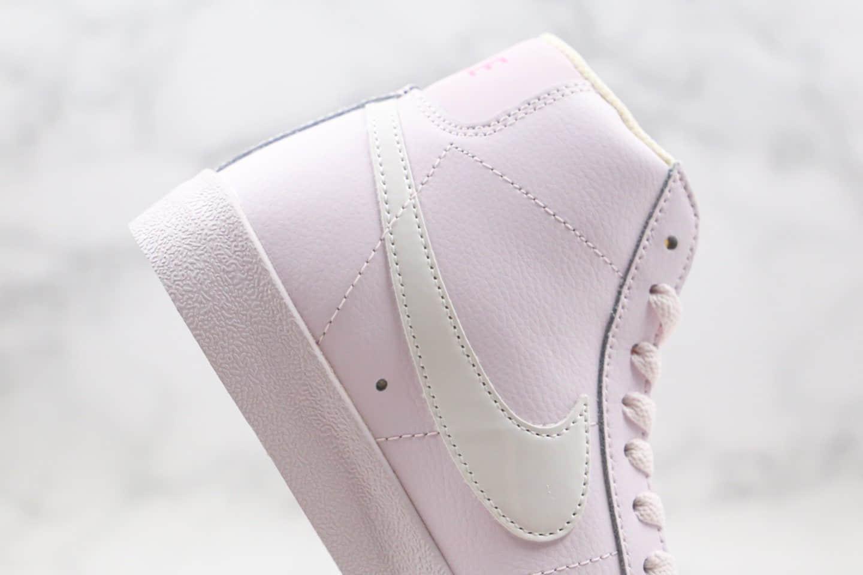 耐克NIKE ZOOM BLAZER MID纯原版本中帮开拓者浅紫色硫化板鞋原鞋开模一比一打造 货号:CZ0376-500