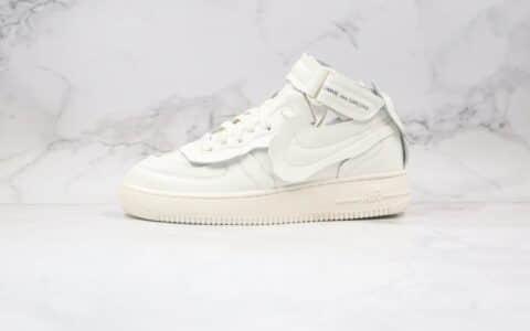 耐克Nike Air Force 1 Mid x Comme des Garons川久保玲联名款纯原版本中帮空军一号不规则板鞋白色内置全掌Sole气垫 货号:DC3601-100