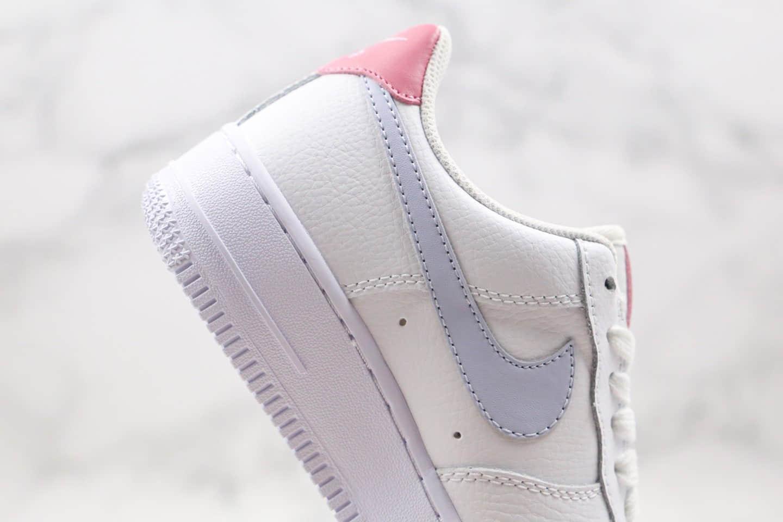 耐克Nike Air Force 1 07纯原版本低帮空军一号白浅紫粉色板鞋内置气垫原盒原标 货号:315115-156