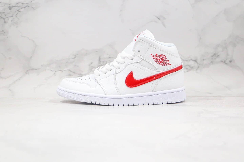 乔丹Air Jordan 1 Mid SE V G-Dragon纯原版本中帮AJ1权志龙同款白红色篮球鞋正确鞋楦开模 货号:BQ6472-106