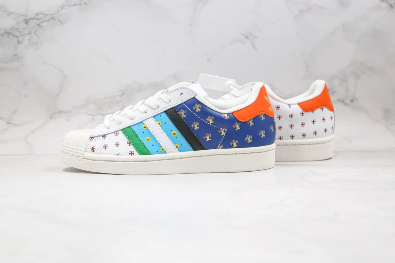阿迪达斯三叶草贝壳头板鞋50周logo涂鸦纯原版本出货
