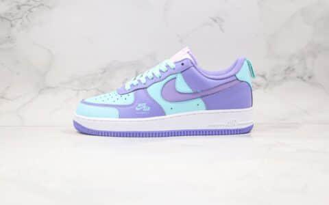 耐克Nike Air Force 1 Premium Violet纯原版本低帮空军一号紫罗兰配色板鞋原盒原标 货号:CV3039-106