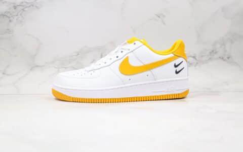 耐克Nike Air Force 1 07纯原版本低帮空军一号黄白色拼接板鞋内置全掌气垫原盒原标 货号:DH2947-100