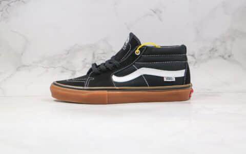 万斯Vans SK8-Mid公司级版本中帮硫化板鞋黑生胶原纸版楦型打造 货号:VN0A36ENMV58