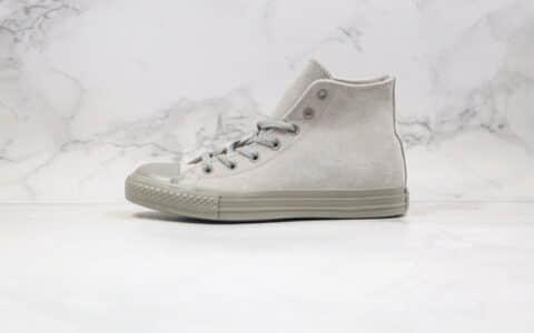 匡威Converse Chuck Taylor All Star PT Hi公司级版本高帮硫化板鞋麂皮灰色原标原盒 货号:162462C