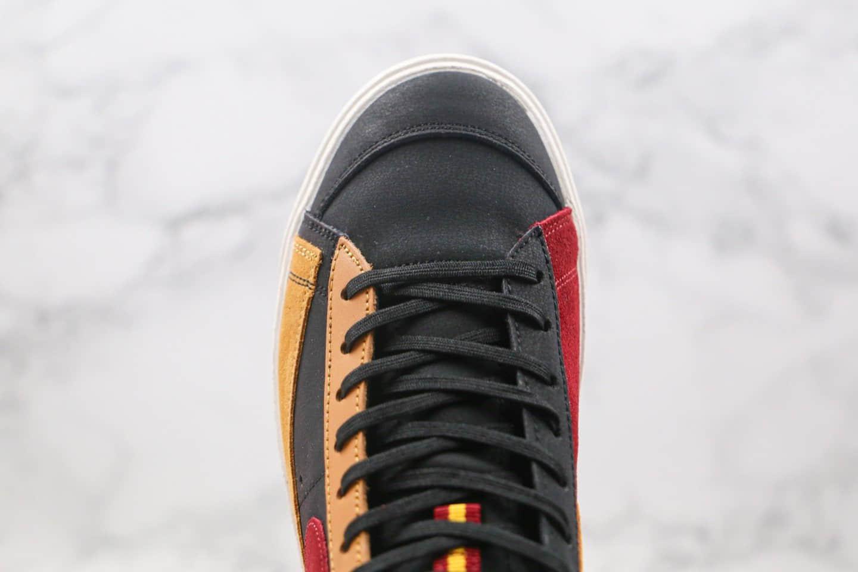 耐克Nike Blazer Mid纯原版本中帮开拓者板鞋马歇尔高中芝加哥联名阴阳黑黄红色原鞋开模 货号:CU6442-001