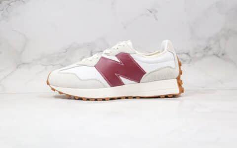 新百伦New Balance 327公司级版本NB327复古慢跑鞋白红色原档案数据开发 货号:WS327KA
