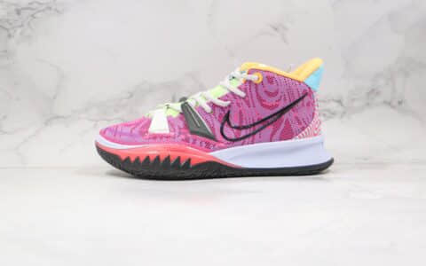 耐克Nike Kyrie 7 Pre Heat Ep公司级版本欧文7代篮球鞋粉紫色内置气垫 货号:DC0588-601