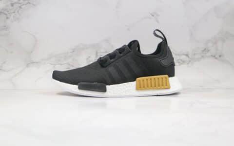 阿迪达斯Adidas NMD R1 Primeknit Triple Black纯原版本爆米花跑鞋NMD R1黑金色内置原厂巴斯夫大底 货号:EG6702