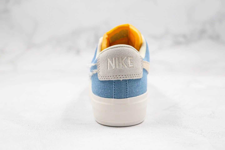 耐克Nike SB Zoom Blazer Mid Edge Hack Pack纯原版本低帮SB开拓者拆线格子牛仔蓝解构板鞋原盒原标 货号:CI3833-410
