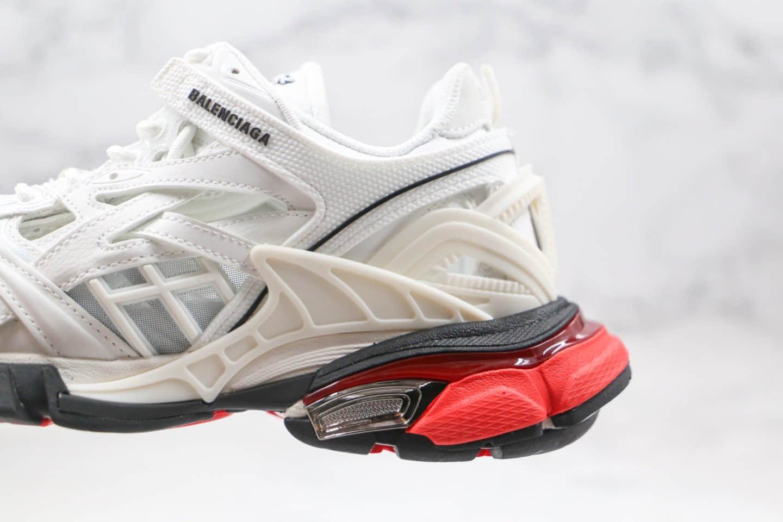 巴黎世家Balenciaga Track 4.0纯原版本复古老爹鞋四代白红色原盒配件齐全