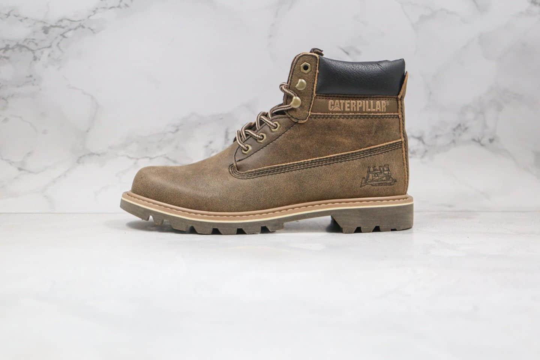 卡特CAT FOOTWEAR纯原版本高帮T3系列工装靴咖啡棕色原厂出品市面最高版本