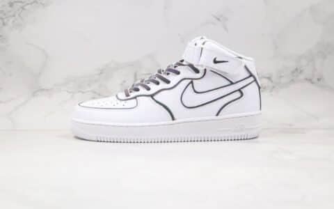 耐克Nike Air Force 1 '07纯原版本中帮空军一号3M反光白色变色龙板鞋内置全掌Sole气垫 货号:368432-810