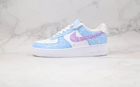 耐克Nike Air Force 1 07纯原版本低帮空军一号泼墨蓝紫色板鞋原盒原标原档案数据开发 货号:CZ6928-100