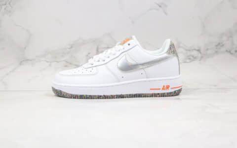 耐克Nike Air Force 1 Low纯原版本低帮空军一号马赛克像素白黑银色板鞋内置全掌Sole气垫 货号:DB1558-100