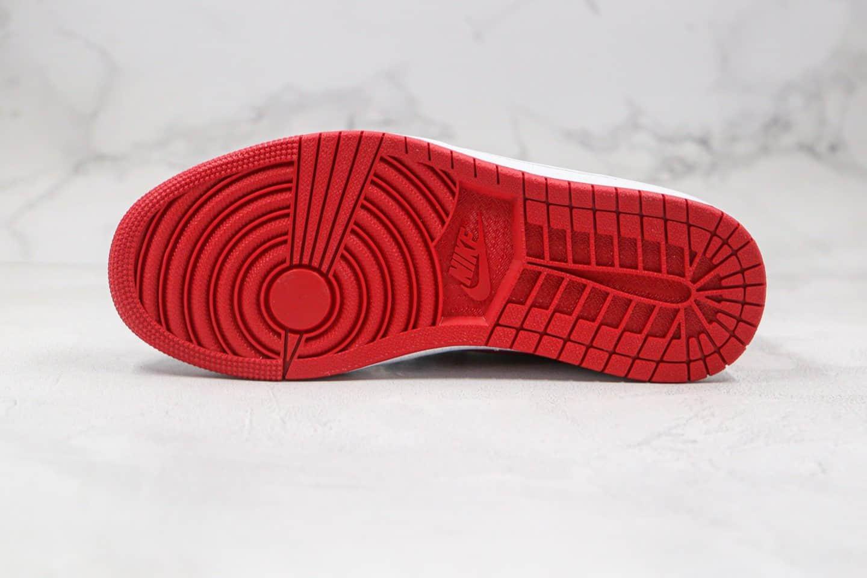 乔丹Air Jordan 1 Low纯原版本低帮AJ1蛇纹白黑红色篮球鞋原档案数据开发 货号:CW0192-200