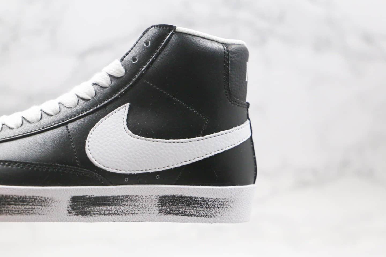 耐克Nike blazer mid x Peaceminusone纯原版本中帮开拓者权志龙小雏菊黑白色板鞋原盒原标 货号:CJ6101-900