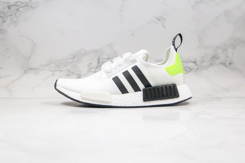 阿迪达斯Adidas NMD R1 OK W Primeknit Triple Black纯原版本爆米花跑鞋NMD白黑绿色原厂巴斯夫爆米花 货号:FW2699