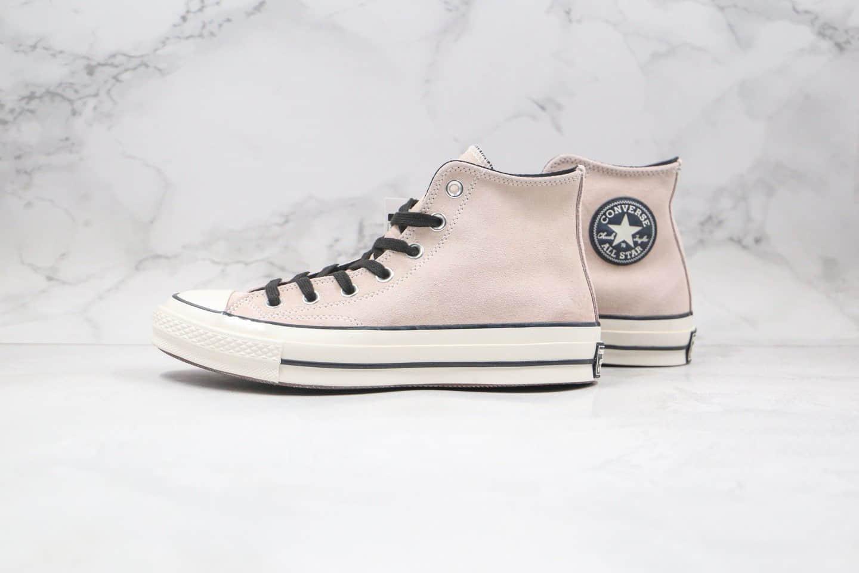 匡威CONVERSE 1970s公司级版本高帮三代黑标脏粉色麂皮硫化板鞋原盒原标 货号:169335C