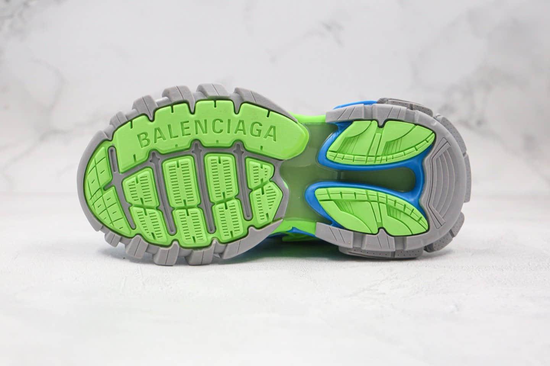 巴黎世家Balenciaga Track 4.0纯原版本四代复古老爹鞋蓝绿色原盒配件齐全