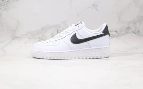 耐克Nike Air Force 1 Low纯原版本低帮空军一号黑色鞋舌白黑色板鞋内置全掌Sole气垫 货号:315115-152