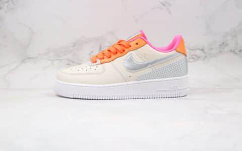 耐克Nike Air Force 1 Premium纯原版本低帮空军一号灰橙银色板鞋内置气垫原档案数据开发 货号:CT1992-101