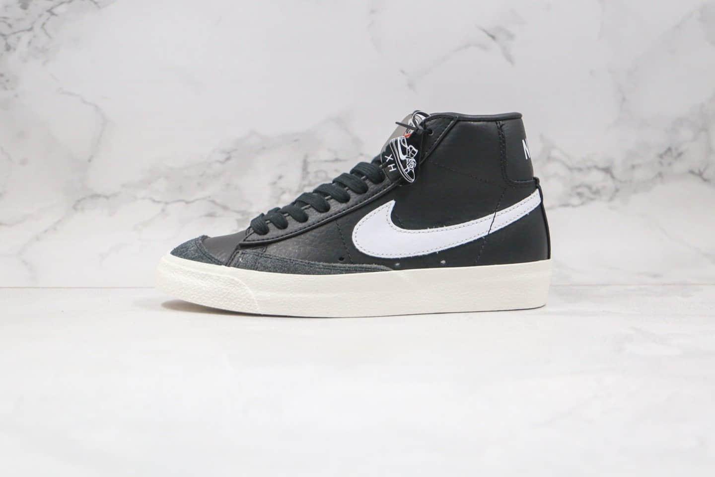 耐克纯原版本中帮皮面开拓者黑白色板鞋出货