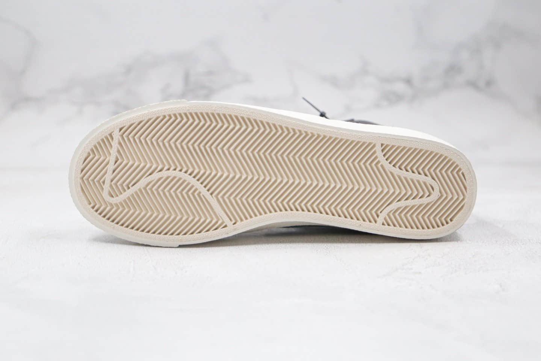 耐克Nike ZOOM BLAZER MID纯原版本中帮开拓者板鞋皮面黑白色内置气垫原楦头纸板打造 货号:BQ6806-002
