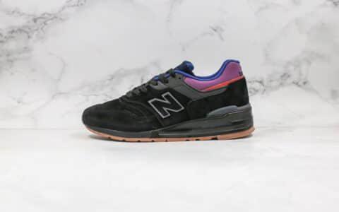 新百伦New Balance M997纯原版本复古慢跑鞋NB997黑紫色原档案数据开发 货号:M997CSS
