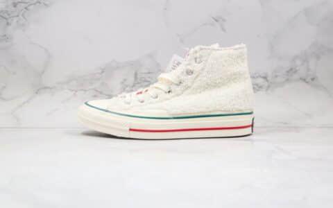 匡威Converse Chuck70公司级版本高帮羊羔毛加绒硫化板鞋白色原档案数据开发 货号:170048C