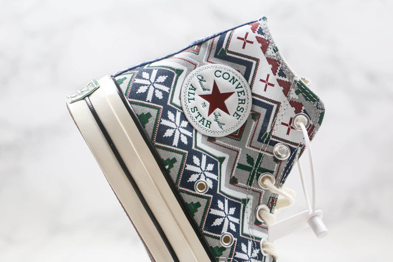 匡威Converse Chuck 70S公司级版本高帮民族风雪花圣诞节配色原厂硫化大底原盒原标 货号:169352C