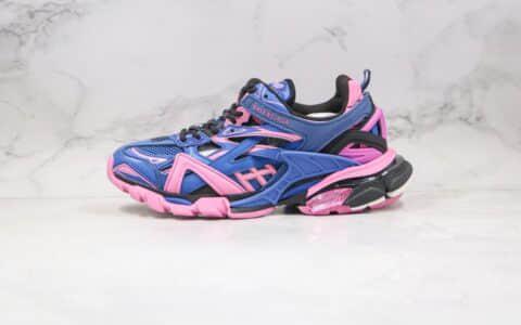 巴黎世家Balenciaga Track 4.0纯原版本复古老爹鞋四代蓝粉色原档案数据开发原盒配件齐全