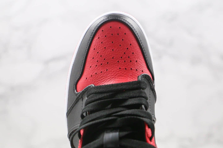 乔丹Air Jordan 1 Mid Bred纯原版本中帮AJ1黑红小禁穿原档案数据开发 货号:554724-074