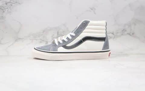 万斯VANS SK8 Hi公司级版本高帮加绒灰白色硫化板鞋原厂硫化大底原盒原标