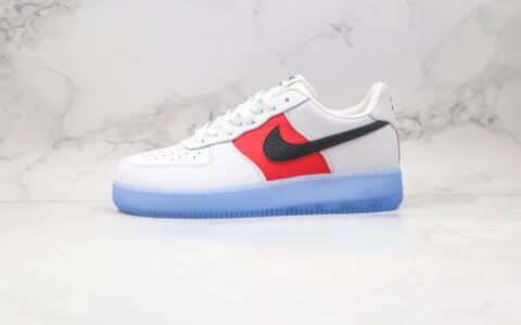 耐克Nike Air Force 1 Low纯原版本低帮空军一号水晶底白蓝红色原楦头纸板打造 货号:CT2295-110