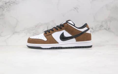 耐克Nike SB Dunk Low SP Trail End Brown纯原版本低帮SB DUNK棕白色蛇纹板鞋内置后跟Zoom气垫 货号:304292-102