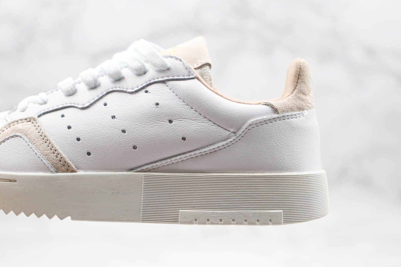 阿迪达斯Adidas SUPERCOURT纯原版本三叶草复古休闲板鞋米白灰色原盒原标 货号:EE6034