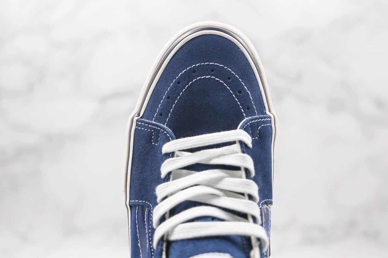 万斯VANS sk8-MID 2020 x Alltimers联名款公司级版本中帮卡通涂鸦小怪兽蓝白色棋盘格子硫化板鞋原鞋开模一比一打造