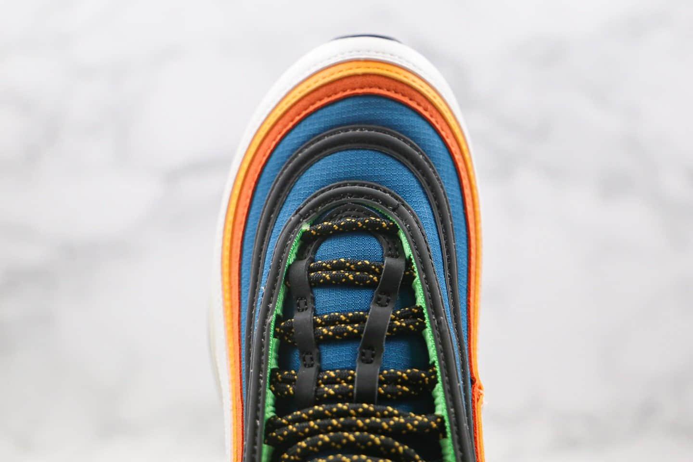 耐克Nike Air Max 97纯原版本子弹头Max97气垫鞋白橙蓝色原盒原标原档案数据开发 货号:CZ7868-300