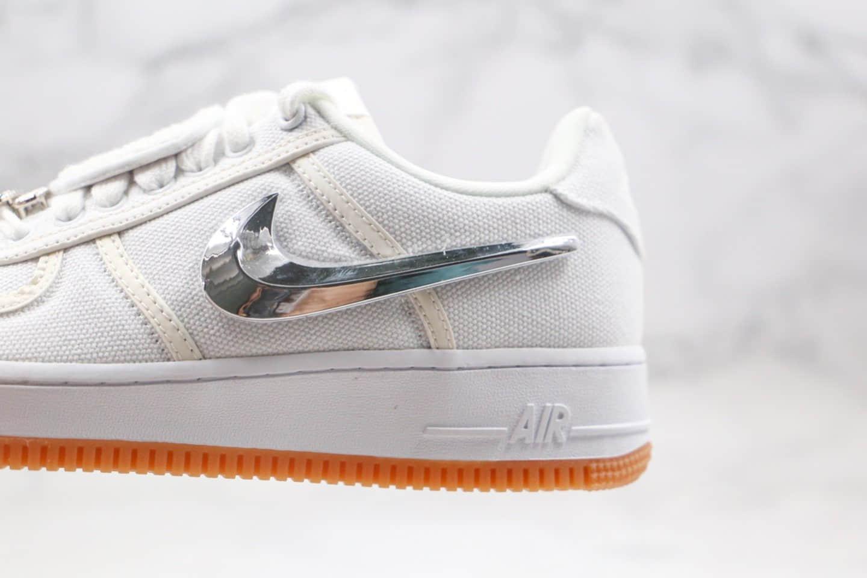 耐克Nike Air Force 1 x Travis Scott联名款纯原版本换勾魔术贴空军一号板鞋内置全掌Sole气垫 货号:AQ4211-100