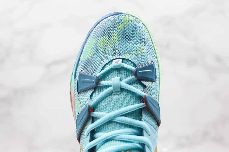 耐克Nike Kyrie 7 Pre Heat Ep纯原版本欧文7代蓝绿色实战篮球鞋内置气垫 货号:DC0588-400